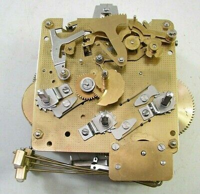 Vintage Franz Hermle 340-020 Westminster Chime Mantel Clock Movement Parts
