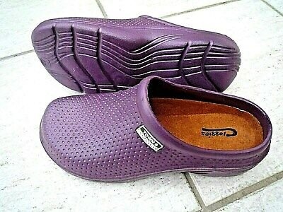 NEW Town & Country purple lightweight patterned CLOGGIES--Size 8 UK adult.