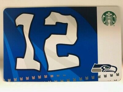 Starbucks 2019 SEATTLE SEAHAWKS FLAG Card, New, pin intact, no swipes! NFL Holo.