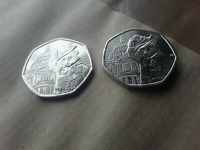 2019 Uncirculated Paddington Bear At St Pauls Cathedral 50P Coins X 2