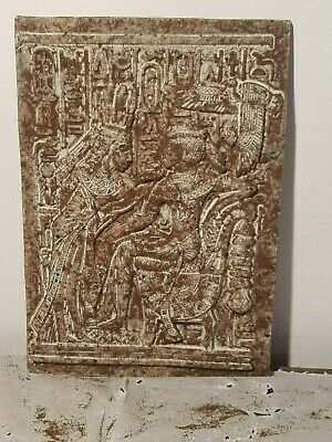 Rare Antique Ancient Egyptian Stel King Tutankhamun & Wife God Horus1332–1323BC