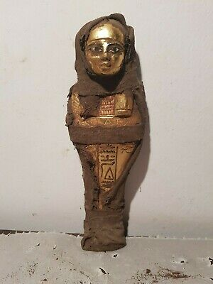 Rare Antique Ancient Egyptian Ushabti Servant minions Water Gold1750-1680BC