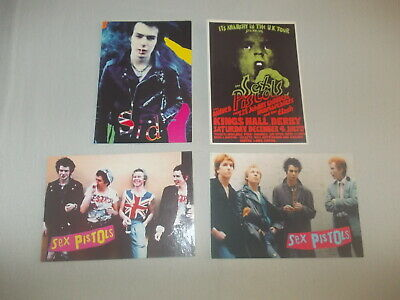 Sex Pistols-4xPostcards/GREAT COND/punk/new wave/alternative/rock