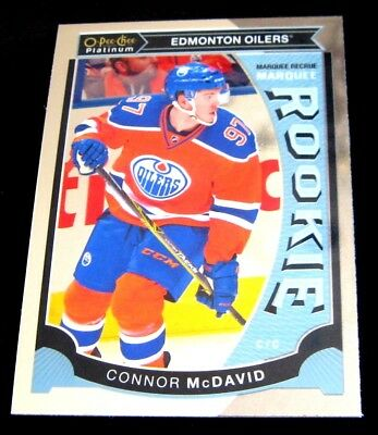 2015-16 CONNOR McDAVID OPC 15-16 PLATINUM MARQUEE ROOKIES RC CARD