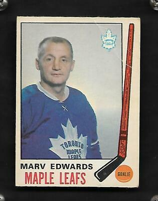 1969-70 Opc Marv Edwards Rc #185 Toronto Maple Leafs  Rookie