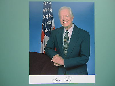 """Prepinted 8"""" x 10"""" Autographed photo of President Jimmy Carter"""