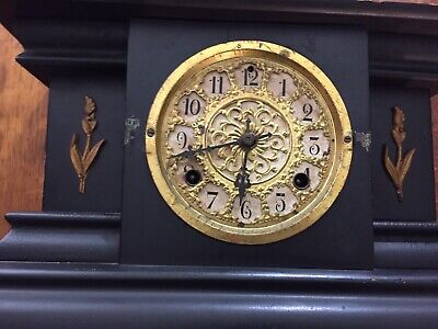 Antique Shelf Clock There Is No Key Or Crystal For This Clock