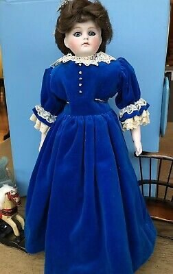 15' Real Antique 1800's Era French Fashion Lady Doll Unmarked leather body TLC