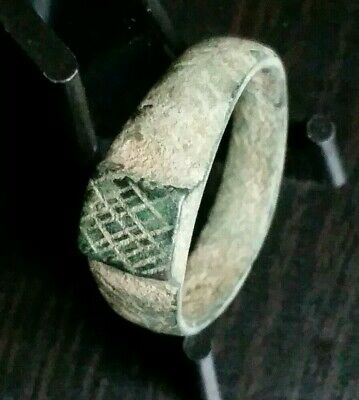 Authentic Ancient Bronze Roman or Byzantine Ring Artifact Antiquity Old