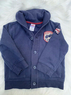 Gymboree Boys Size 2T V-neck Fall winter Cardigan Sweater Oxford Lions