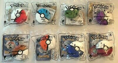 2019 McDonalds POKEMON Happy Meal Toys SET OF (8) TOYS + (8) Cards IN STOCK