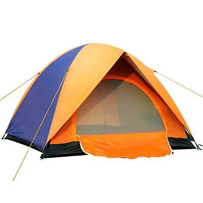 Wild Camping Tent Blue Double Skin Lightweight Spring Dome 3-4 Person beach rain