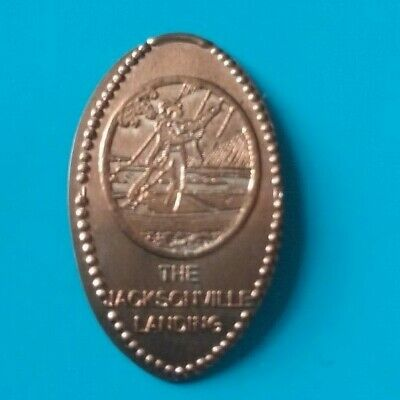 THE JACKSONVILLE LANDING Sailboat Boat Florida Elongated Copper Penny RETIRED