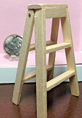 Dollhouse Miniature Ladder Made of Wood - 1:12