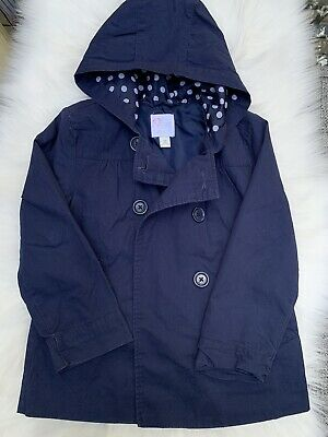 The Childrens Place Girls Cotton Coat Jacket Navy Blue Size S P 5-6 lined
