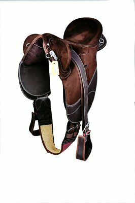 Brown-Synthetic stock Saddle
