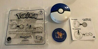 2019 McDonalds POKEMON Happy Meal Toy Promo #7 MAGMAR ***LAUNCHER & DISC ONLY***