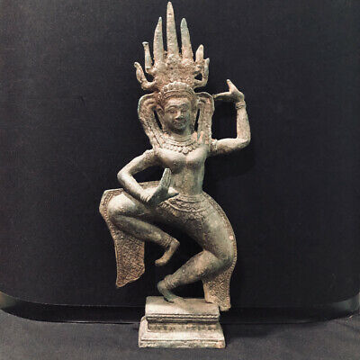 Ancient Cambodia's Khmer Period Apsara Buddha Statue Bronze Buddhism God Dance