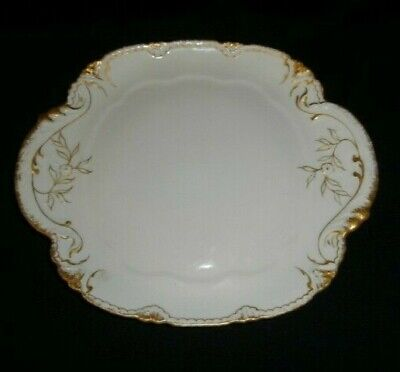 Handled Cake Plate Schleiger 133 by Theodore Haviland Limoges