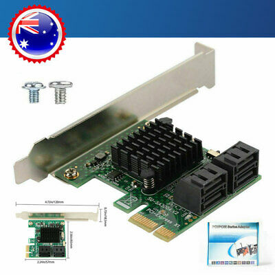 PCI-E PCI Express to SATA 3.0 4Ports Expansion Controller Card Adapter 6Gbps AU