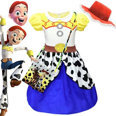 Toy Story Kids Girls Fancy Dress Cosplay Jessie Costume Outfit Mask Hat Bag Suit