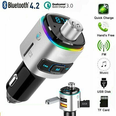 Bluetooth 4.2 Auto MP3 Player Sender FM Transmitter Dual USB Ladegerät Adapter