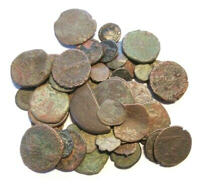 A lot of 50 x ancient Ae-coins, Greek, Roman and Byzantine