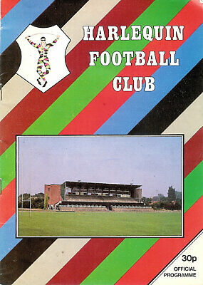 Harlequins v Blackheath 10 Jan 1987 RUGBY PROGRAMME