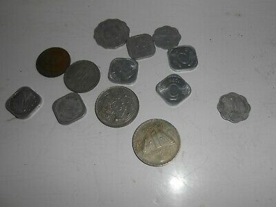 Smal quantity of collectible Indian coins as seen Rupee & Paise