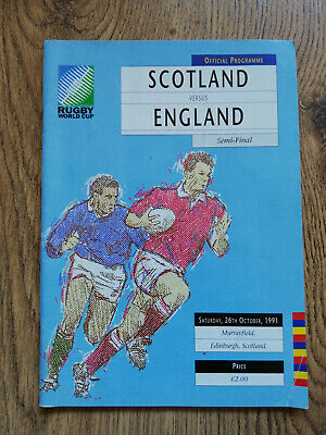 Scotland v England 1991 Signed Rugby World Cup Semi-Final Programme
