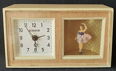 Blessing Alarm Clock Music Box W. Germany Ballerina Girl Mechanical
