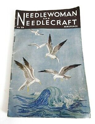 NEEDLE WOMAN & NEEDLE CRAFT Vintage Booklet Embroidery Tips & Patterns