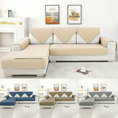 Sofa Cover 1 2 3 Seater Quilted Couch Covers Lounge Protector Pet Dog Slipcovers