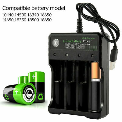 4 Slots Smart USB 18650 Battery Charger for 3.7V Rechargeable Battery HOT SALE