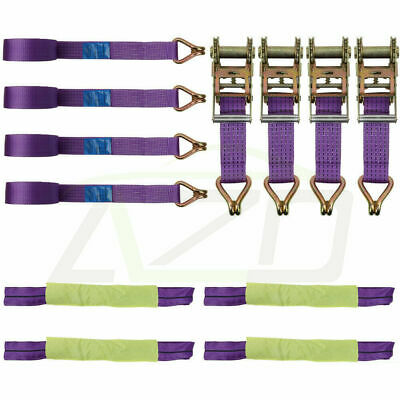 Recovery Reinforced Alloy Wheel Securing Link Straps Trailer Transporter set x 2