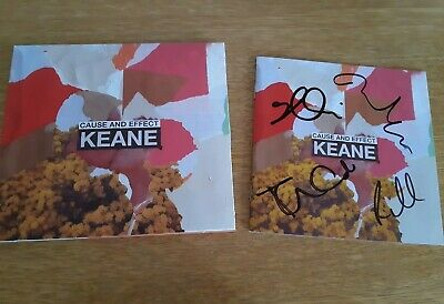 Keane Hand Signed Autograph Deluxe Cd Cause And Effect By All Sold Out Exclusive