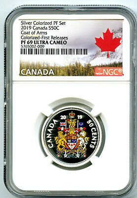 2019 Canada 50 Cent Silver Colored Proof Ngc Pf69 Uc Half Dollar First Releases