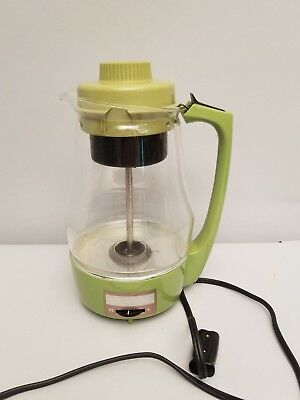 Proctor Silex Electric Glass Percolator 9 Cup Coffee Pot Retro Green