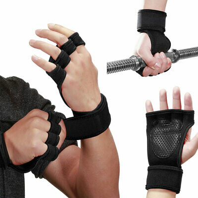 Weight Lifting Gloves Mens Gym Fitness Training Workout Bodybuilding Wrist Strap