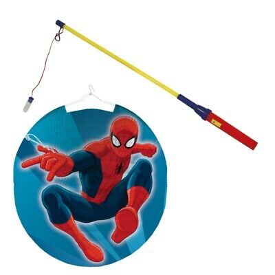 Kinder Lampion Set | Spiderman | Laterne gehen | mit Laternen Stab #9345