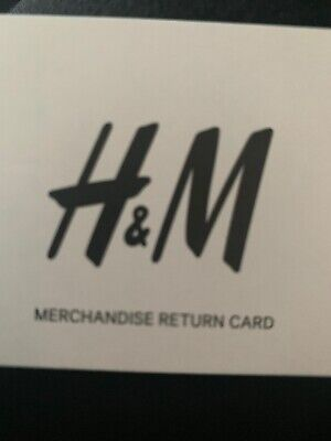 H And M HM Credit Note Voucher £24.99 Gift Card