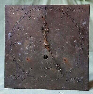 Arts & crafts Brass movement from a Clock, made by D.C. Rogers of Braunton