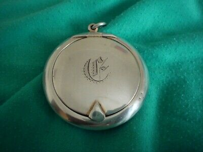 Antique Solid Sterling Silver Hallmarked Chester Date 1911 Snuff Box / Pill Box