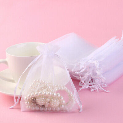 Organza Bags Jewellery Pouches Wedding Favour Party Mesh Drawstring Gift Cake