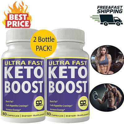 Ultra Fast Keto Boost Weight Loss Pills 800MG Ketogenic BHB Burn Fat 2 Bottle