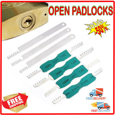 DANIU 7pcs Comb Pick Stainless Steel Lock Tool Locksmith Tool for House Lock Pic