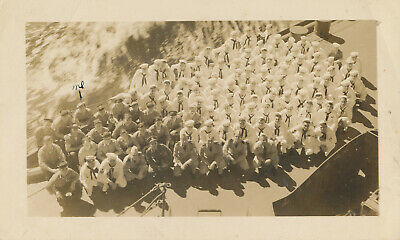 WWII 1943 USS New Mexico US Navy Group Photo 6th Division