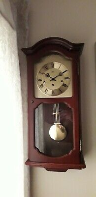 Ams Wall Clock (Hermle) Movement On Off Westminster Chimes Brass Lyre Pendulum