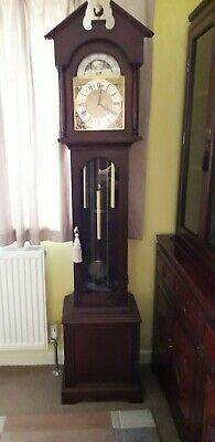 Grandfather Clock Superb Emperor (Hermle) Triple Musical Chime 3 Weight Moondial