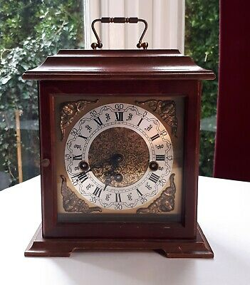 Vintage FRANZ HERMIE 2 Jewels Unadjusted Chime Mantel Clock 340-020. No Key